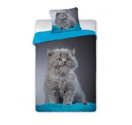 Obliečky Mačiatko modré 140x200, 70x90