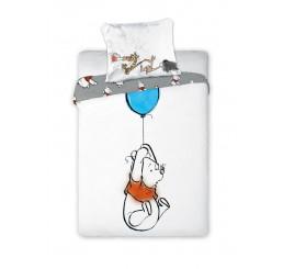 Obliečky do postieľky Macko Pú balón Bavlna, 100x135, 40x60 cm
