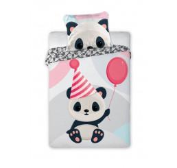 Obliečky do postieľky Panda Bavlna, 100x135, 40x60 cm