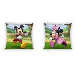 Obliečky na vankúšik Mickey a Minnie záhrada 40x40