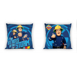 Obliečky na vankúšik Požiarnik Sam modrý 40x40