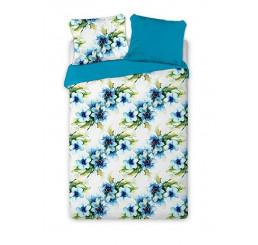 Obliečky bavlnený satén Aquarell kvety Bavlna - Satén, 140x200, 2x70x90 cm