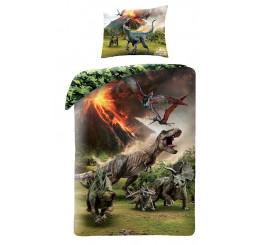 Obliečky Jurský Park Sopka Bavlna, 140x200, 70x90 cm