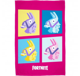 Fleece deka Fortnite Lama pink 100x150