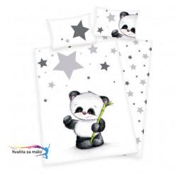 Obliečky do postieľky Panda 100x135, 40x60