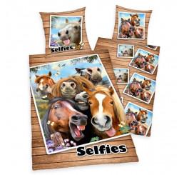 Obliečky Kone Selfie 140x200, 70x90