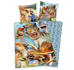 Obliečky Selfies Dinosaur Bavlna, 140x200, 70x90 cm