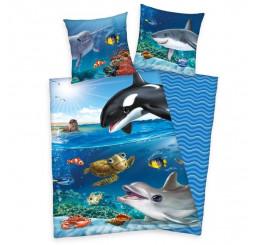 Obliečky Animal Club Oceán Bavlna, 140x200, 70x90 cm