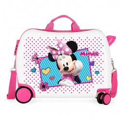 Detský kufrík na kolieskach Minnie Joy MAXI ABS plast, 50x38x20 cm, objem 34 l