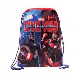 Vak na chrbát Kapitán Amerika Polyester 30x40 cm