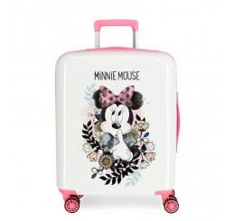 Cestovný kufor Minnie Style flores ABS plast, 55x40x20 cm, objem 38,4 l