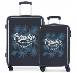 Cestovné kufre Roll Road Palm SADA ABS plast, 33-67,5 l