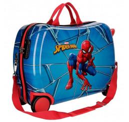 Detský kufrík na kolieskach Spiderman Black MAXI ABS plast, 50x38x20 cm, objem 34 l
