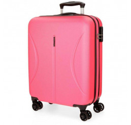 Cestovný kufor Roll Road Camboya Pink ABS plast, 55x40x20 cm, objem 36 l