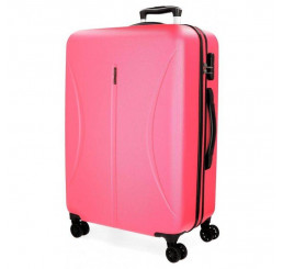 Cestovný kufor Roll Road Camboya Pink ABS plast, 80x56x29 cm, objem 108 l