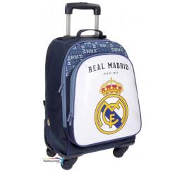 Batoh na kolieskach Real Madrid biely 47x33x21