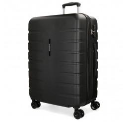 Cestovný kufor MOVOM Turbo Black ABS plast, 69x49x28 cm, objem 80 l