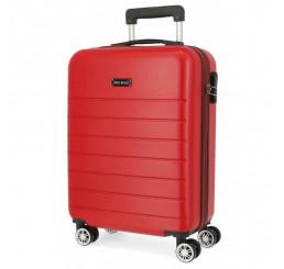 Cestovný kufor Roll Road Magazine Red ABS plast, 55x40x20 cm, objem 37 l