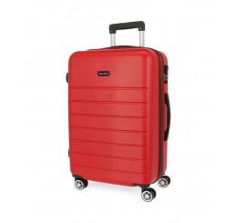 Cestovný kufor Roll Road Magazine Red ABS plast, 76x51x29 cm, objem 95 l