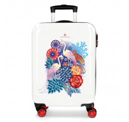 Cestovný kufor Catalina Estrada Abanico Red ABS plast, 55x36x20 cm, objem 33 l