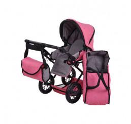 Kočík pre bábiky Ruby 20 Jeans pink