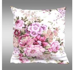 Bavlnená obliečka na vankúš Provence Ester ružová 40x40 cm