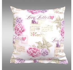 Bavlnená obliečka na vankúš Provence Leontýna ružová 40x40 cm