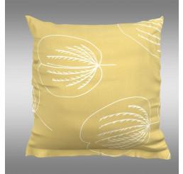 Obliečka na vankúš GRACE žltá Bavlna, 40x40 cm
