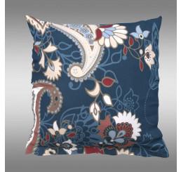 Obliečka na vankúš OLYMPIA petrolejová dekor Bavlna, 40x40 cm