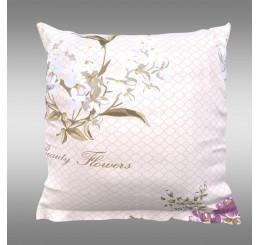 Obliečka na vankúš PROVENCE BEATRICE fialová Bavlna, 40x40 cm