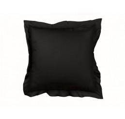 Saténová obliečka na vankúš čierna 40x40 cm