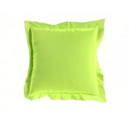 Saténová obliečka na vankúš svetlo zelená 40x40 cm