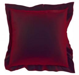 Saténová Obliečka na vankúš vínový Bavlnený satén, 40x40 cm