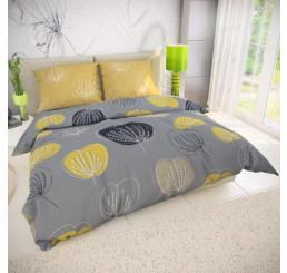 Obliečky GRACE šedá Bavlna, 140x200 cm