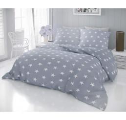 Obliečky DELUX STAR sivé Bavlna, 140x200 cm