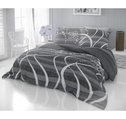 Obliečky DELUX VALERY sivé Bavlna, 140x200 cm