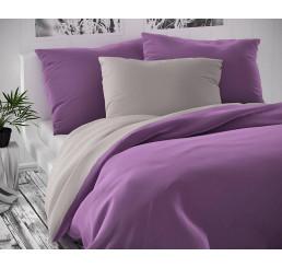 Saténové obliečky Luxury Collection šedo fialovej 140x200, 70x90