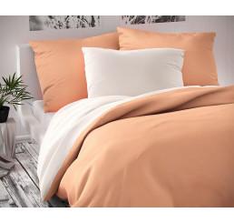 Saténové obliečky Luxury Coll biele lososové 140x220, 70x90