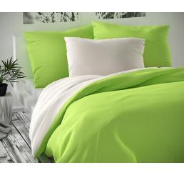 Saténové obliečky Luxury Collection sivé-svetlo zelené 140x220, 70x90