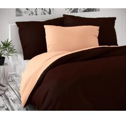 Saténové obliečky Luxury Coll hnedé lososové 140x220, 70x90