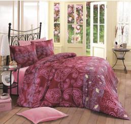 Saténové obliečky Luxury Collection Orient vínové 140x220, 70x90