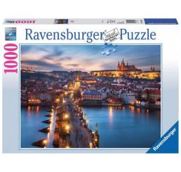 Puzzle Nočná Praha 1000 dielikov