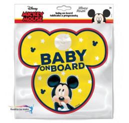 Ceduľka s prísavkou Dieťa v aute Mickey Mouse