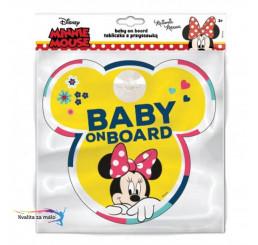 Ceduľka s prísavkou Dieťa v aute Minnie Mouse 2019