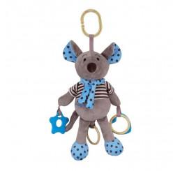 Plyšová hračka so zvukom myška modrá Plyš, 27 cm