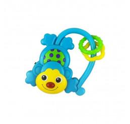Hračka s hrkálkou so zvukom opice Plast, 11 cm