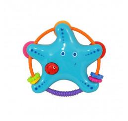 Hračka s hrkálkou hviezdička Plast,