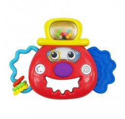 Hračka s hrkálkou svetelný klaun Plast, 17 cm