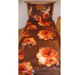 Obliečky bavlnený satén Royal orange 140x200, 70x90
