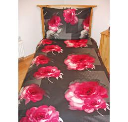 Obliečky bavlnený satén Royal pink 140x200, 70x90